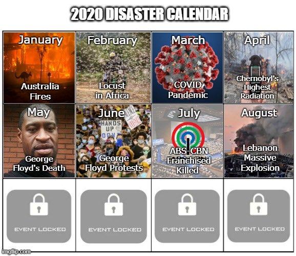 ภัยพิบัติ ปี 2020 1